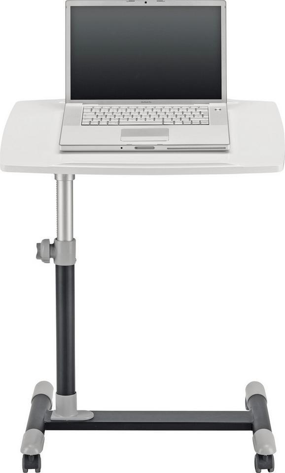 Schreibtisch Weiß/Grau - Grau, MODERN, Kunststoff/Metall (60/88/40cm) - Mömax modern living