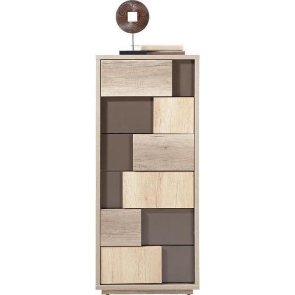 Comodă Vobis - maro/culoare lemn stejar, Modern, plastic/compozit lemnos (51/119/45cm) - James Wood