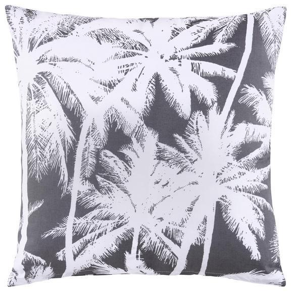 Okrasna Blazina Palm Tree - siva/bela, Trendi, tekstil (45/45cm) - Mömax modern living