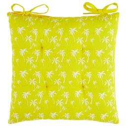 Sitzkissen Lady Palms in Gelb ca. 40x40cm - Gelb, LIFESTYLE, Textil (40/40cm) - Mömax modern living