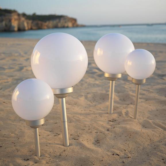 Solarleuchte Adrian max. 0,06 Watt - Weiß, Kunststoff (20/66cm) - Mömax modern living