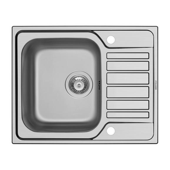 Pomivalno Korito 117501 - nerjaveče jeklo, Moderno, kovina (62/50cm)