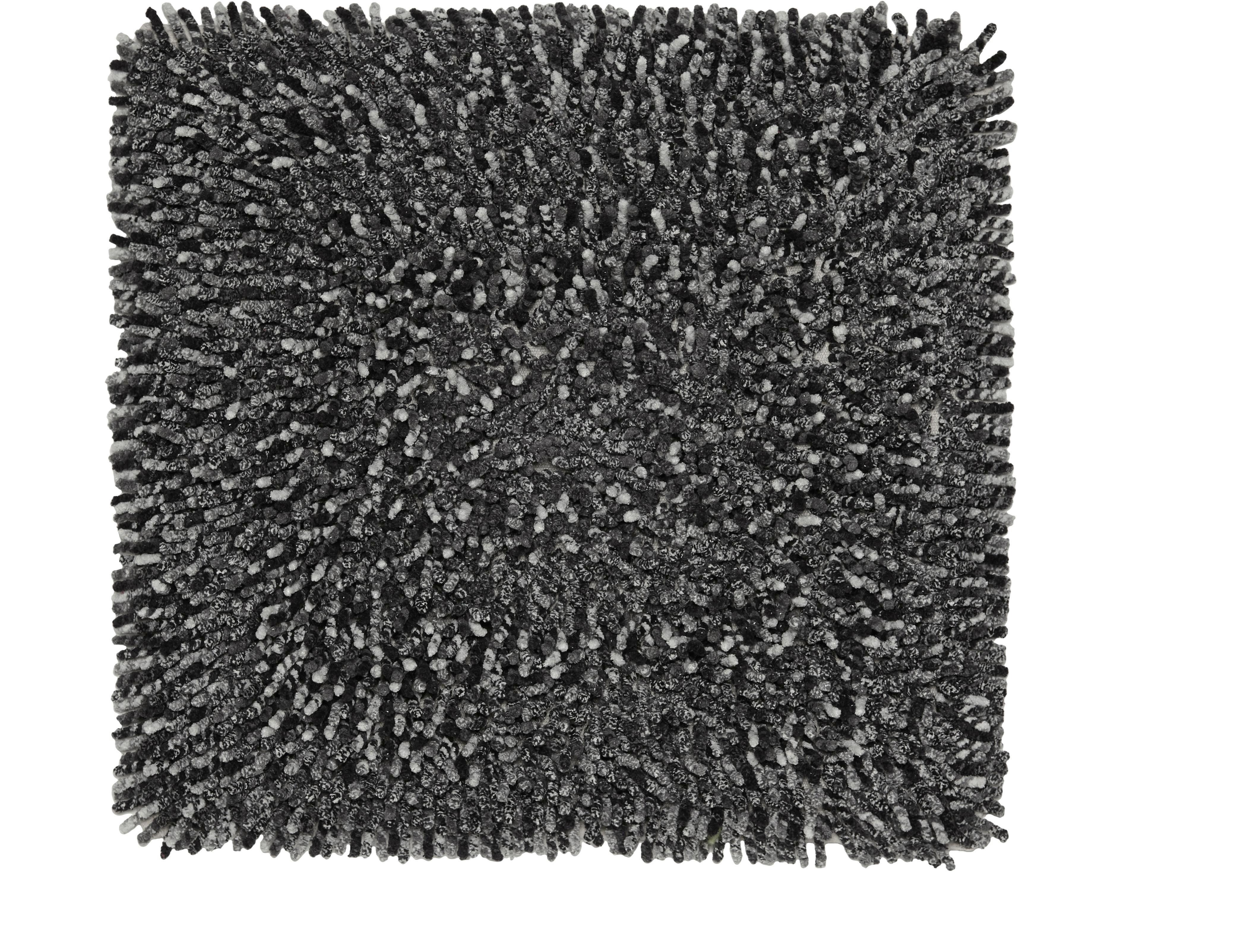 Badematte Moritz, ca. 50x50cm - Anthrazit/Schwarz, Textil (50/50cm) - MÖMAX modern living