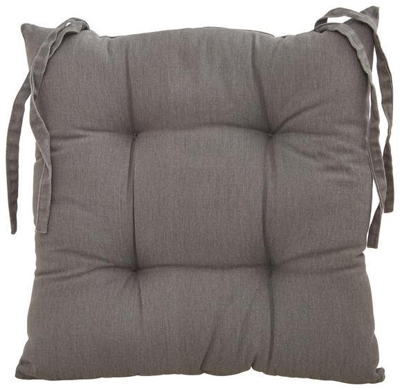 Sitzkissen Steven Grau ca.  40x40 cm - Grau, Textil (40/40cm) - Mömax modern living