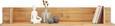 Wandboard aus Akazie - Akaziefarben, KONVENTIONELL, Holz (120/20/28cm) - Zandiara