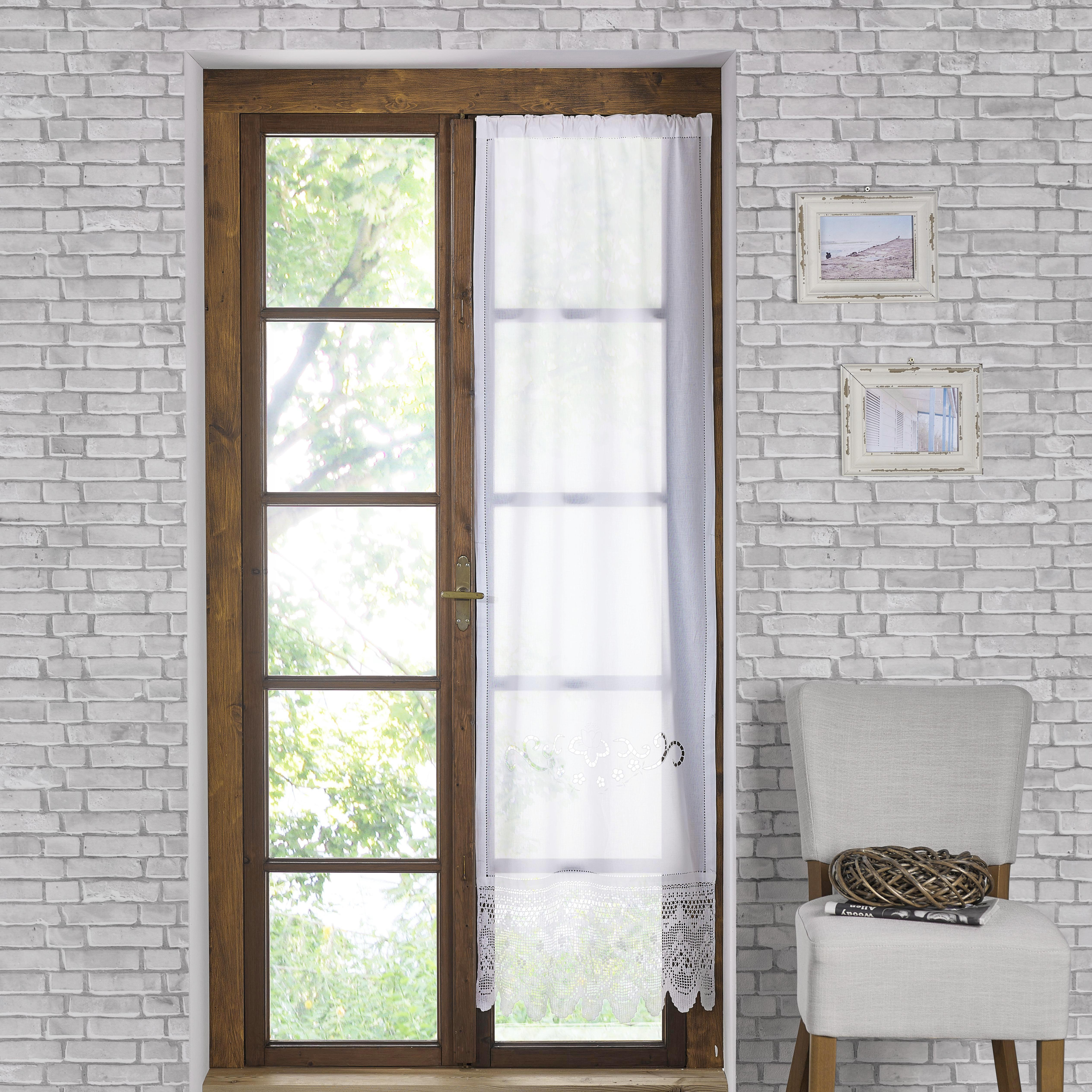 Fertiggardine Vanessa 60x180cm - Weiß, KONVENTIONELL, Textil (60/180cm) - PREMIUM LIVING