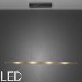Pendelleuchte Vivian mit LED 4-flammig - Chromfarben, MODERN, Glas/Metall (93/14/120cm) - Bessagi Home