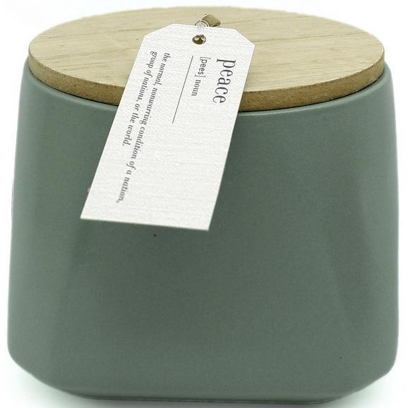 Lumânare În Pahar Cu Capac Lina - albastru/alb, ceramică (10,6/9,5cm) - Modern Living