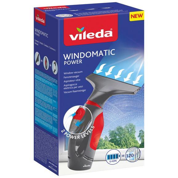 Fenstersauger Windowmatic Power Schwarz/Rot - Rot/Schwarz, KONVENTIONELL, Kunststoff - Vileda