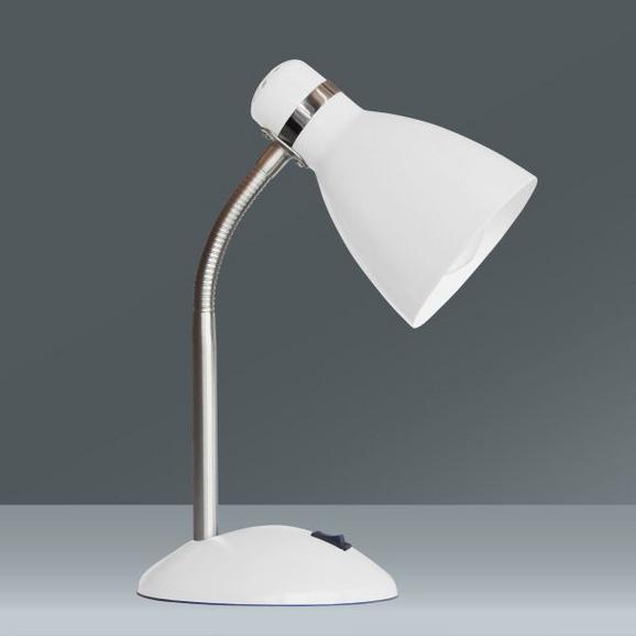 Tischleuchte Elif, max. 60 Watt - Weiß, ROMANTIK / LANDHAUS, Metall (35cm)