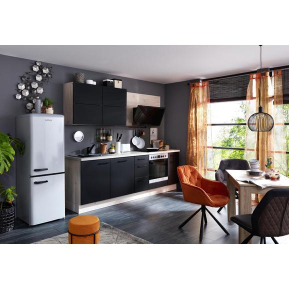 Küchenblock IP3150 - Ahornfarben/Schwarz, MODERN, Holzwerkstoff (260cm) - Impuls