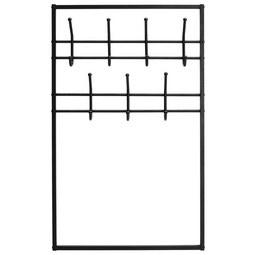 Garderobenpaneel in Schwarz - Schwarz, MODERN, Metall (74/120/4cm) - Modern Living