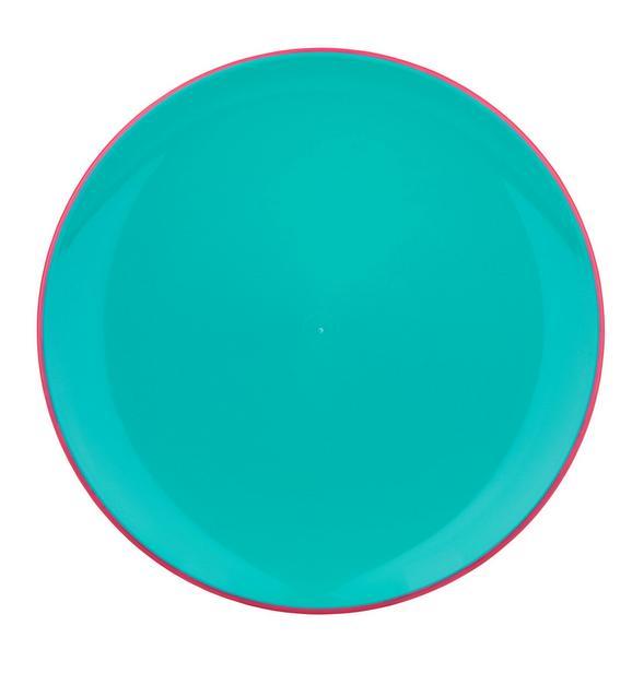 Plitvi Krožnik Malia - roza/turkizna, Trendi, umetna masa (27/2,5cm) - Modern Living