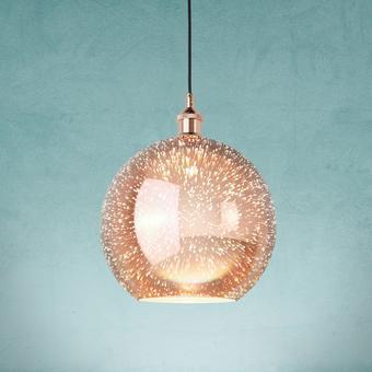 Hängeleuchte Mariba - Kupferfarben, MODERN, Glas/Metall (30cm) - Modern Living
