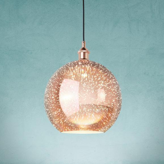 Pendelleuchte Mariba - Kupferfarben, MODERN, Glas/Metall (30cm) - Modern Living