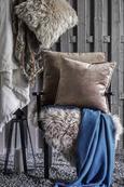 Zierkissen Janet 45x45cm - Braun/Kupferfarben, LIFESTYLE, Textil (45/45cm) - Premium Living