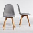 Stuhl Joelyna - Buchefarben/Hellgrau, MODERN, Holz/Textil (44/88/52cm) - Modern Living