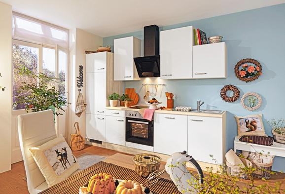 Kuhinjski Blok Venezia Valero - bela/hrast, Moderno, leseni material (220cm)