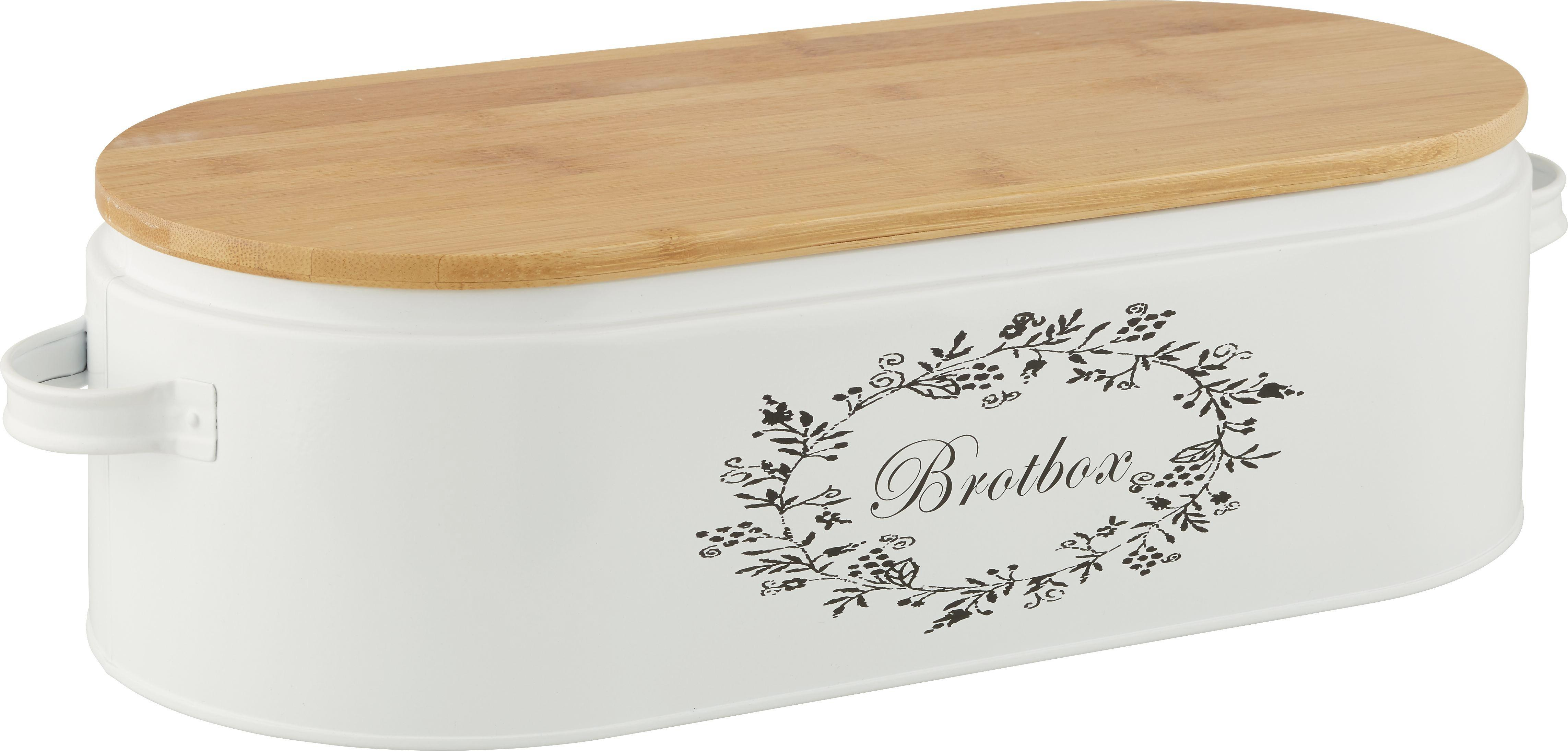 Box mit Deckel Lore in Weiß aus Echtholz - Weiß, ROMANTIK / LANDHAUS, Holz/Metall (43,5/20,5/13cm) - ZANDIARA