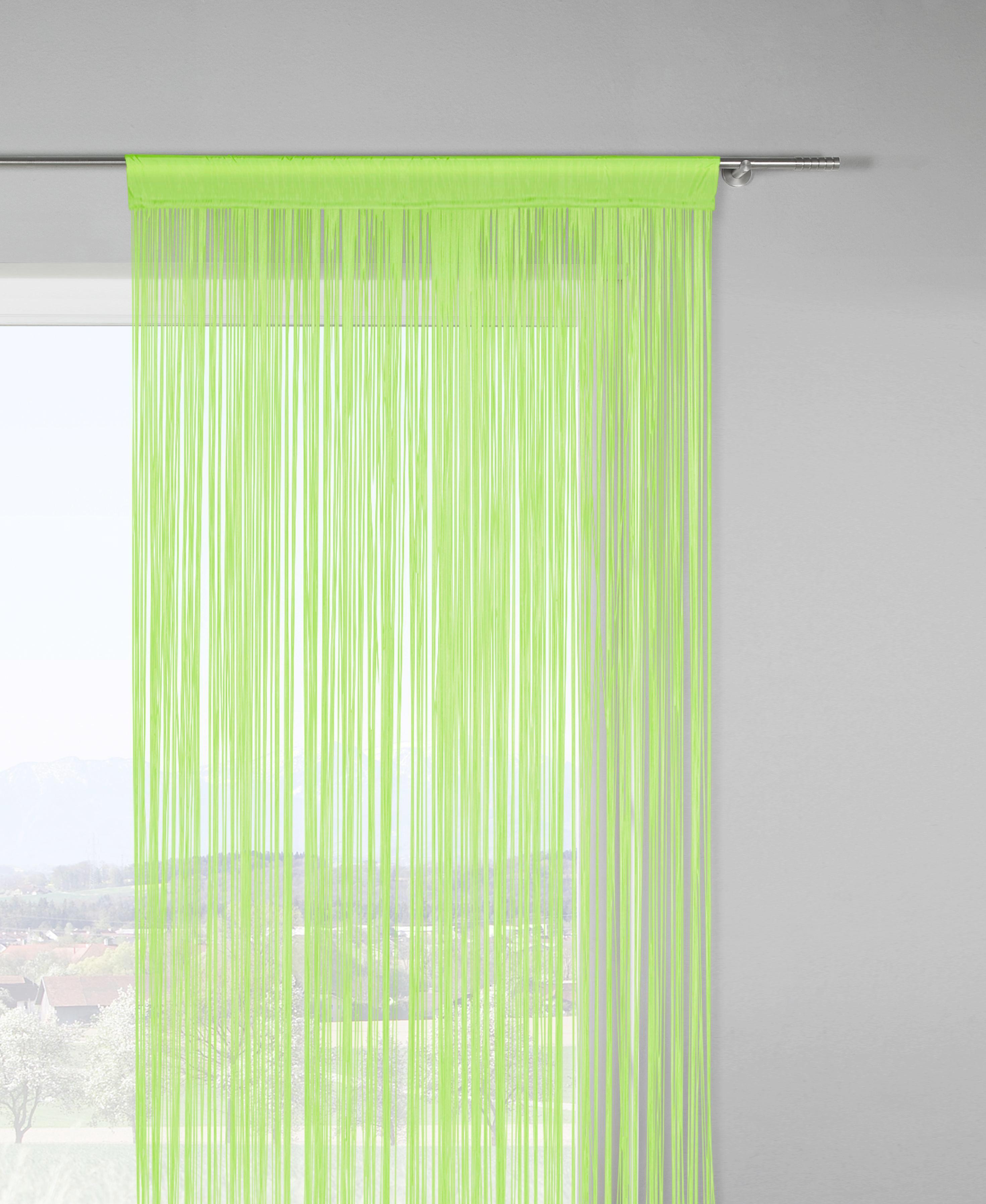 Fadenstore Victoria in Grün, ca. 90x245cm - Grün, Textil (90/245cm) - MÖMAX modern living
