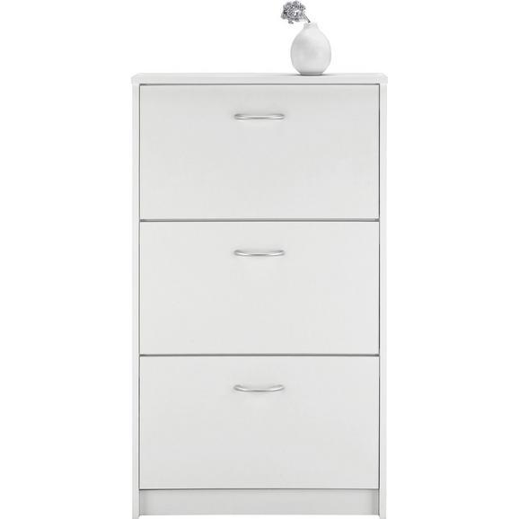 Schuhkipper in Weiß - Eichefarben/Silberfarben, Holzwerkstoff/Kunststoff (59/105/17cm) - Based