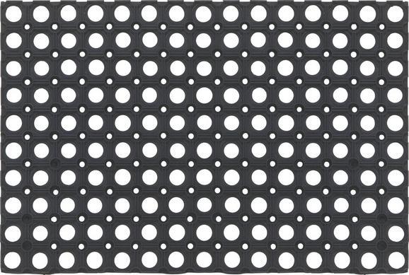 Fußmatte Ring Rubber, ca. 40x60cm - Schwarz, KONVENTIONELL, Kunststoff (40/60cm) - Mömax modern living