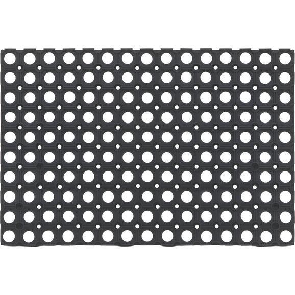 Lábtörlő Ring Rubber 40/60 - Fekete, konvencionális, Műanyag (40/60cm) - Mömax modern living