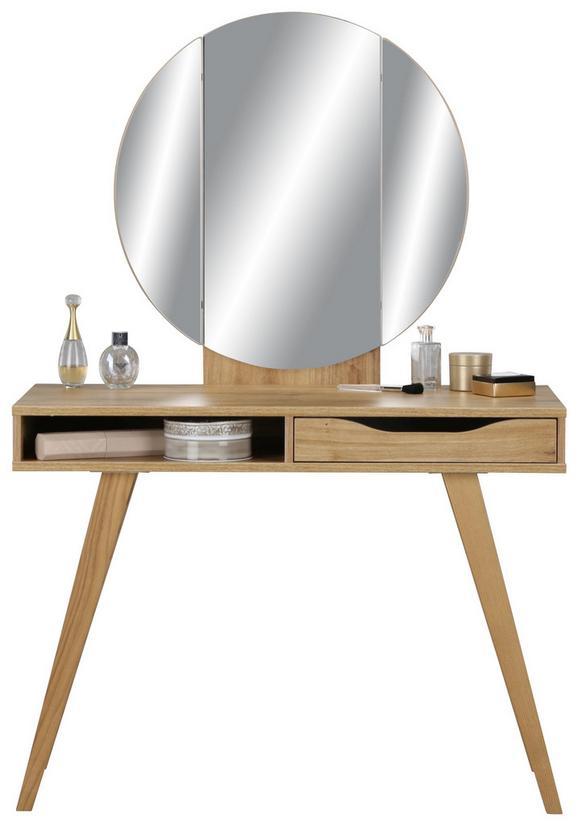 Schminktisch Eichefarben - Eichefarben, Holz/Holzwerkstoff (100/150/53cm) - Premium Living