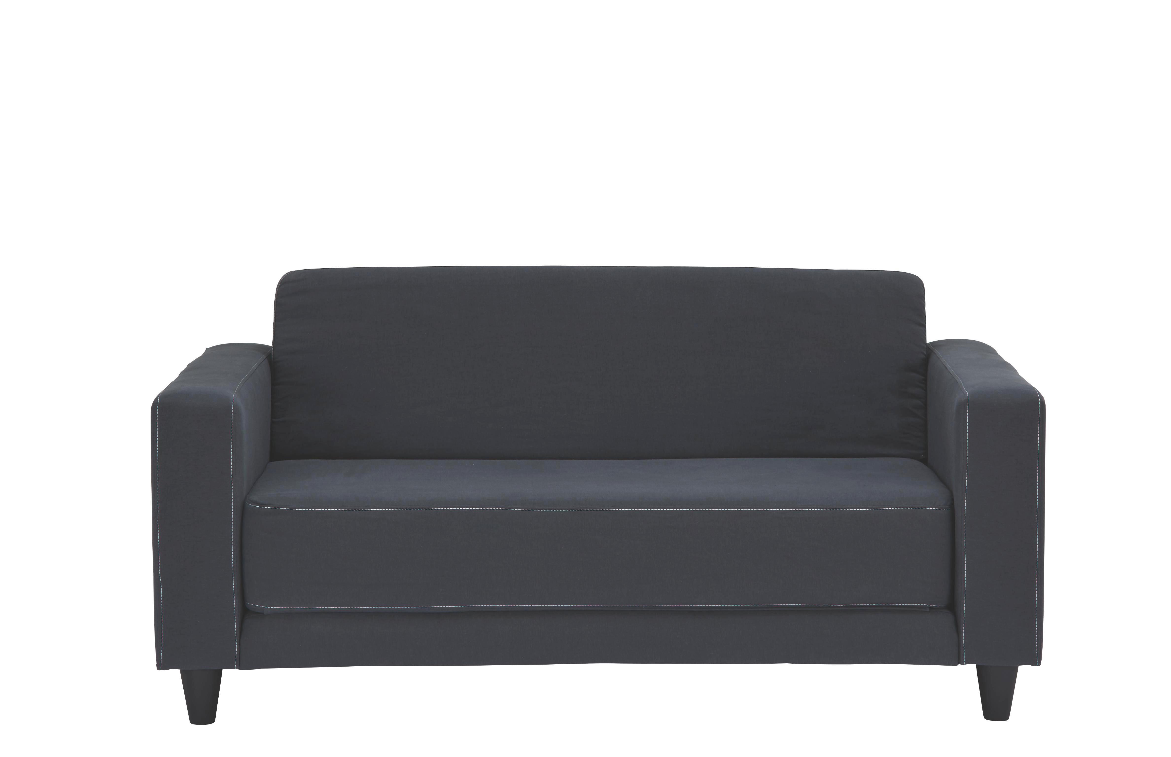 Schlafsofa Grau - Hellgrau/Schwarz, Kunststoff/Textil (146/71/81cm) - MÖMAX modern living