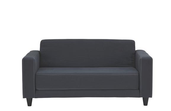 Schlafsofa in Anthrazit mit Bettfunktion - Anthrazit/Hellgrau, Kunststoff/Textil (146/71/81cm) - Mömax modern living