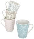 Kaffeebecher Gisi in verschiedenen Designs - Blau/Hellrosa, Keramik (9,5/10,6cm) - Mömax modern living