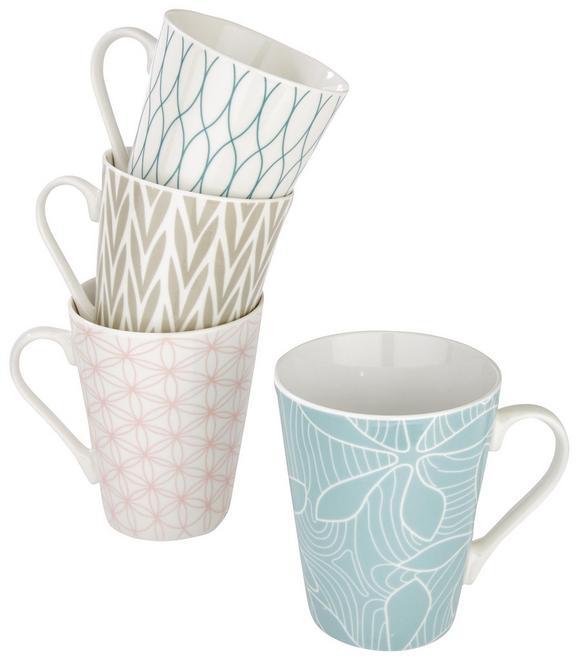 Kaffeebecher Gisi Verschiedene Designs - Blau/Hellrosa, Keramik (9,5/10,6cm) - Mömax modern living