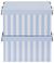 Box mit Deckel Jimmy Blau/Weiß. - Blau/Weiß, Karton (34/18/25cm) - Mömax modern living