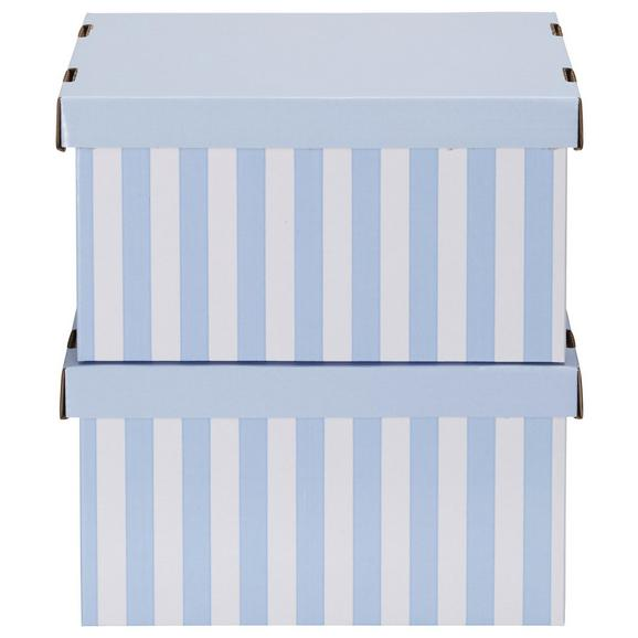 Škatla S Pokrovom Jimmy - modra/bela, karton (34/18/25cm) - Mömax modern living
