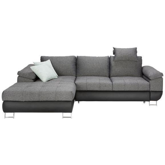 Sjedeća Garnitura Focus - siva/tamno siva, Modern, tekstil/plastika (268/170cm) - Modern Living