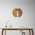 Viseča Svetilka Greta - bela, Trendi, les (46/120cm) - Modern Living