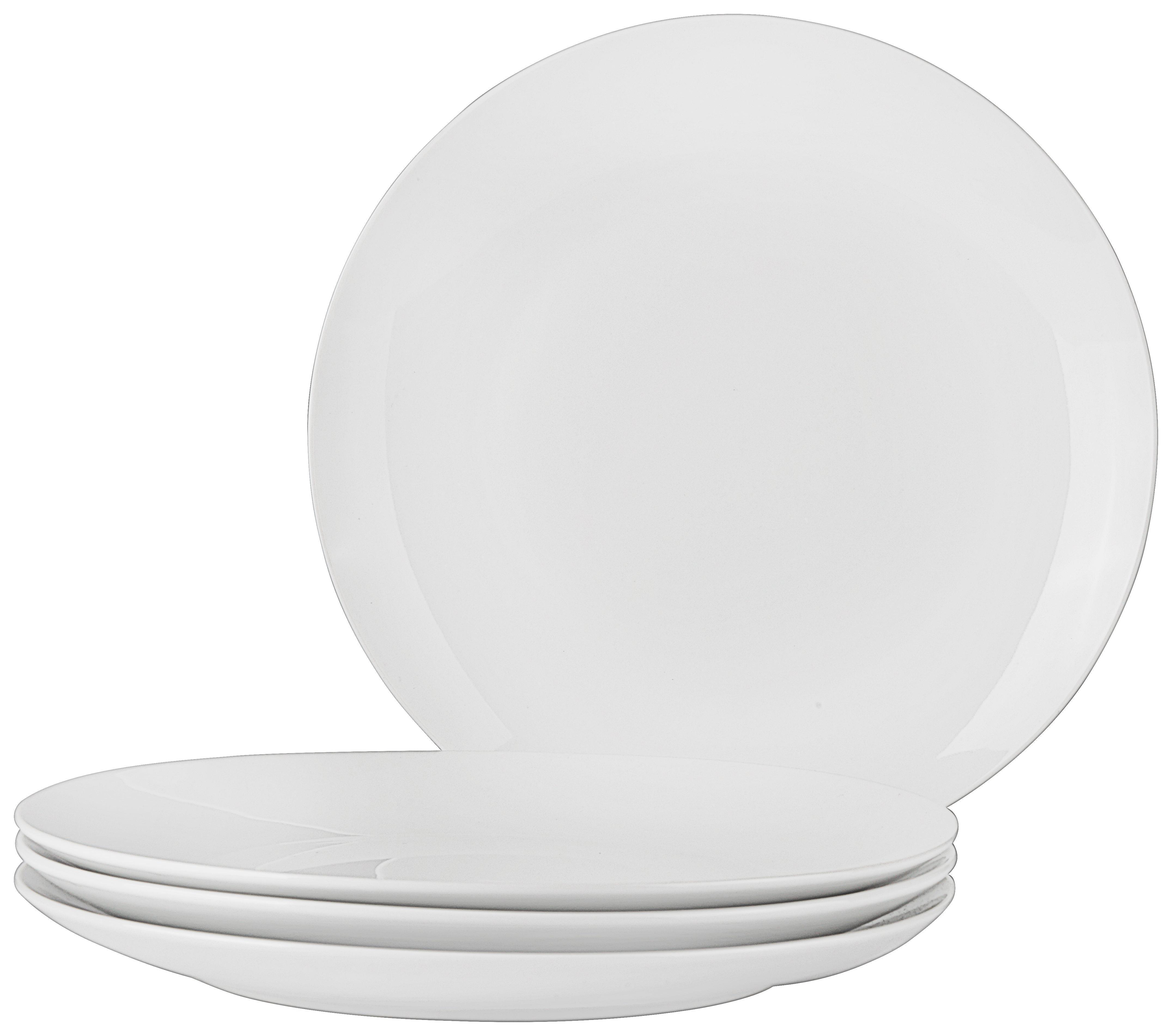 Nagytányér Billy - fehér, modern, kerámia (27cm) - MÖMAX modern living
