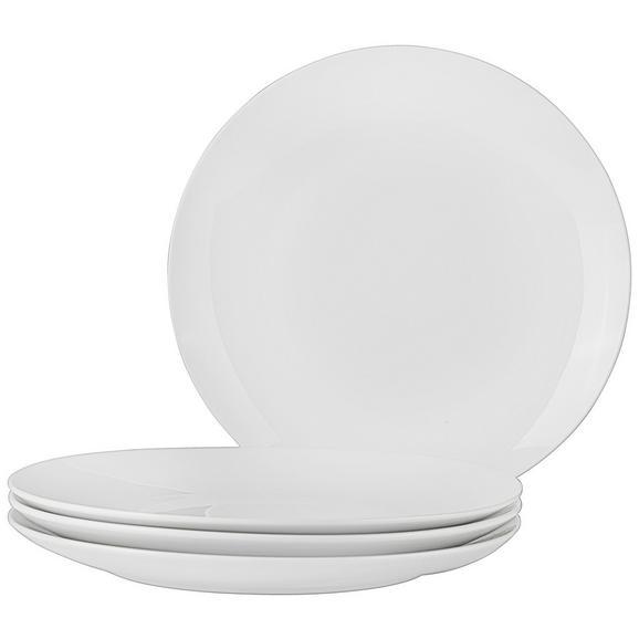 Speiseteller Billy aus Porzellan, 4-teilig - Weiß, Design, Keramik (27cm) - Mömax modern living