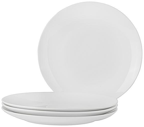 Speiseteller Billy Weiß 4 Stück - Weiß, MODERN, Keramik (27cm) - Mömax modern living
