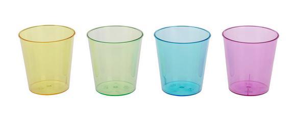 Schnapsglas Lucia in versch. Farben - Blau/Pink, Kunststoff (3,9/20cm)