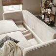 Canapea Extensibilă Andora - bej, Modern, textil (238/90/104cm) - Modern Living
