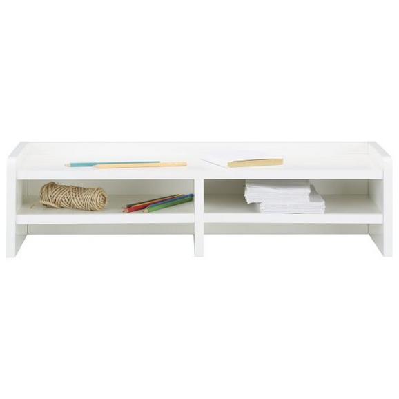 Schreibtischaufsatz in Weiß - Weiß, Holzwerkstoff (67,8/17,4/25,5cm) - Modern Living