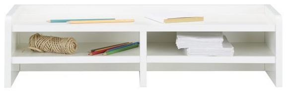 Schreibtischaufsatz Weiß - Weiß, Holzwerkstoff (67,8/17,4/25,5cm) - Modern Living