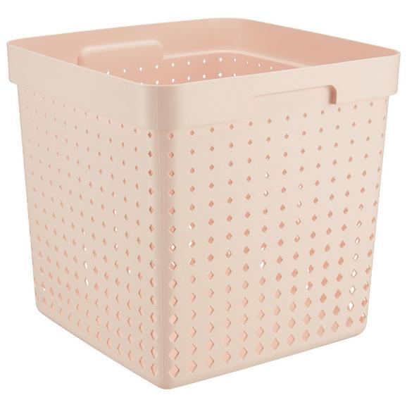 Korb Seoul aus Kunststoff in Rosa - Rosa, KONVENTIONELL, Kunststoff (29,6/29,6/29,6cm)