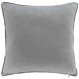 Samtkissen Valska ca.45x45cm - Hellgrau, MODERN, Textil (45/45cm) - Mömax modern living