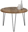 Beistelltisch Schwarz/Naturfarben - Multicolor/Schwarz, Trend, Holz/Metall (65/45cm) - Modern Living