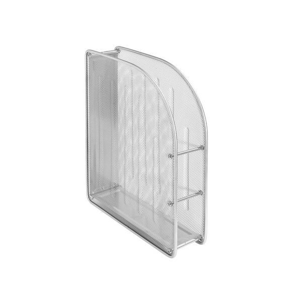 Zeitschriftenordner Mesh in Silberfarben - Silberfarben, Metall (35/27,8/8cm) - Mömax modern living