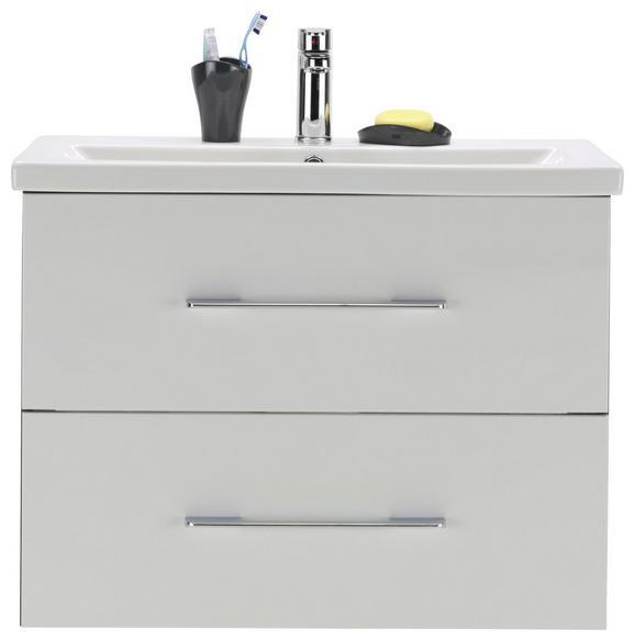 Waschtischkombi Weiß/dunkelgrau - Dunkelgrau/Weiß, MODERN, Keramik/Holzwerkstoff (80/62,5/45cm)
