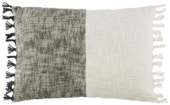 Zierkissen Martina ca. 40x60cm - Creme/Schwarz, LIFESTYLE, Textil (40/60cm) - MÖMAX modern living