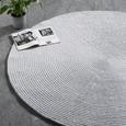 Handwebteppich Manila 2 in Grau Ø ca.160cm - Grau, Natur, Textil (160cm) - Mömax modern living